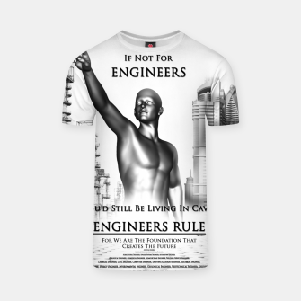 Thumbnail image of Engineers Rule Graphic Design T-shirt, Live Heroes