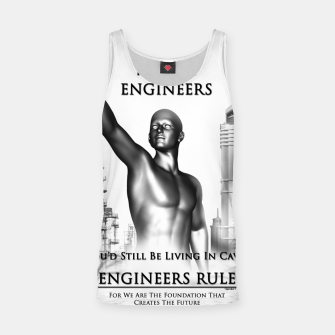Thumbnail image of Engineers Rule Graphic Design Tank Top, Live Heroes