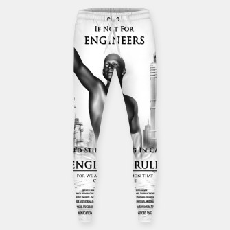 Thumbnail image of Engineers Rule Graphic Design Sweatpants, Live Heroes