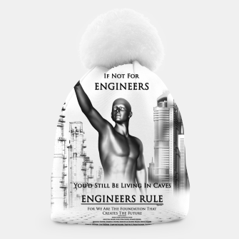 Thumbnail image of Engineers Rule Graphic Design Beanie, Live Heroes