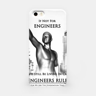 Thumbnail image of Engineers Rule Graphic Design iPhone Case, Live Heroes