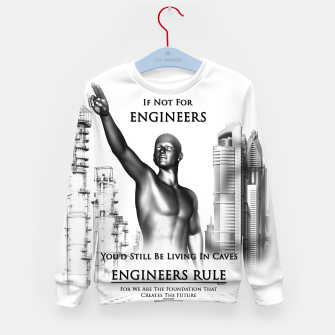 Thumbnail image of Engineers Rule Graphic Design Kid's sweater, Live Heroes