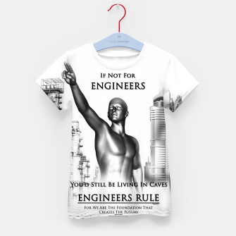 Thumbnail image of Engineers Rule Graphic Design Kid's t-shirt, Live Heroes