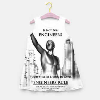 Thumbnail image of Engineers Rule Graphic Design Girl's summer dress, Live Heroes