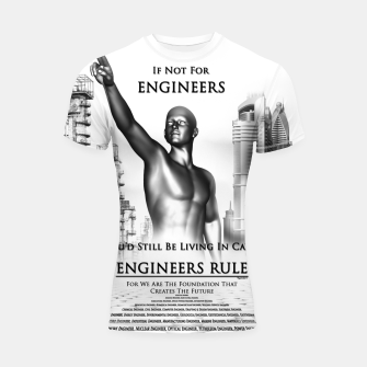 Thumbnail image of Engineers Rule Graphic Design Shortsleeve rashguard, Live Heroes