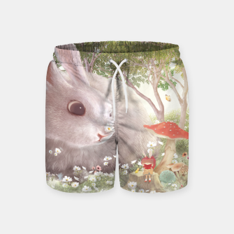 Thumbnail image of Art Size_Flowers are Small Universe Swim Shorts, Live Heroes