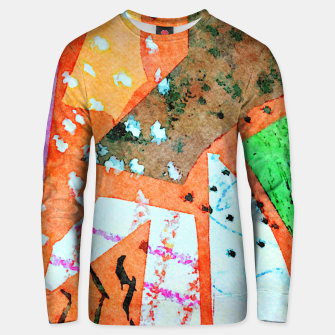 Thumbnail image of White patches Unisex sweater, Live Heroes
