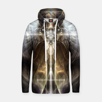 Miniaturka Heavenly Angel Wing Cross Vintage Satin Fractal Art Composition ZM Hoodie, Live Heroes