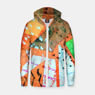 Thumbnail image of White patches Zip up hoodie, Live Heroes