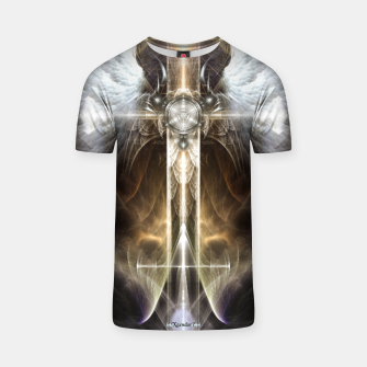 Miniaturka Heavenly Angel Wing Cross Vintage Satin Fractal Art Composition ZM T-shirt, Live Heroes