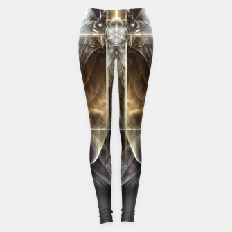 Miniaturka Heavenly Angel Wing Cross Vintage Satin Fractal Art Composition Leggings, Live Heroes