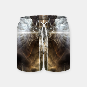 Miniaturka Heavenly Angel Wing Cross Vintage Satin Fractal Art Composition ZM Swim Shorts, Live Heroes