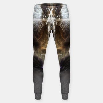 Miniaturka Heavenly Angel Wing Cross Vintage Satin Fractal Art Composition ZM Sweatpants, Live Heroes