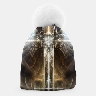 Miniaturka Heavenly Angel Wing Cross Vintage Satin Fractal Art Composition ZM Beanie, Live Heroes