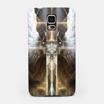 Miniaturka Heavenly Angel Wing Cross Vintage Satin Fractal Art Composition ZM Samsung Case, Live Heroes