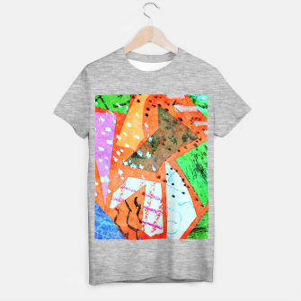 Thumbnail image of White patches T-shirt regular, Live Heroes
