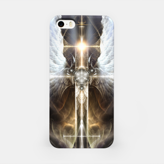 Miniaturka Heavenly Angel Wing Cross Vintage Satin Fractal Art Composition ZM iPhone Case, Live Heroes