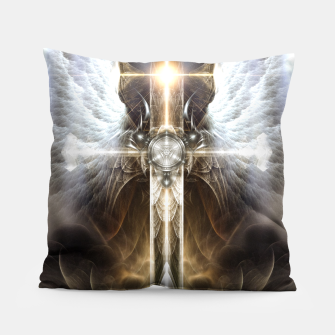 Miniaturka Heavenly Angel Wing Cross Vintage Satin Fractal Art Composition ZM Pillow, Live Heroes