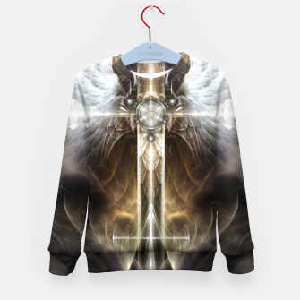 Miniaturka Heavenly Angel Wing Cross Vintage Satin Fractal Art Composition ZM Kid's sweater, Live Heroes