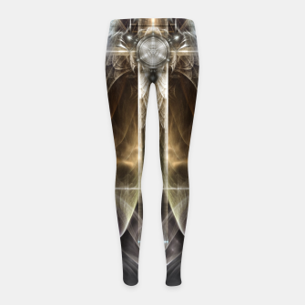 Miniaturka Heavenly Angel Wing Cross Vintage Satin Fractal Art Composition ZM Girl's leggings, Live Heroes