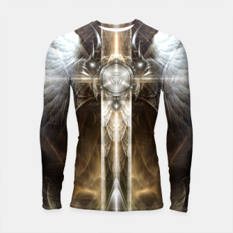 Miniaturka Heavenly Angel Wing Cross Vintage Satin Fractal Art Composition ZM Longsleeve rashguard , Live Heroes