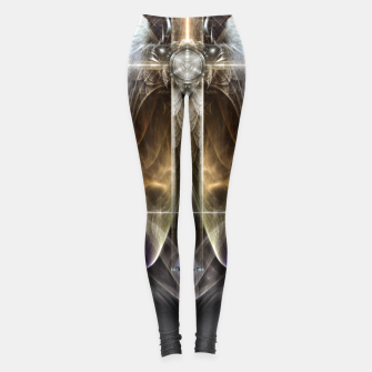 Miniaturka Heavenly Angel Wing Cross Vintage Satin Fractal Art Composition ZM Leggings, Live Heroes