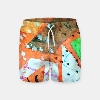 Thumbnail image of White patches Swim Shorts, Live Heroes