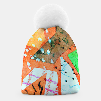 Thumbnail image of White patches Beanie, Live Heroes