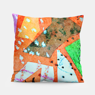 Thumbnail image of White patches Pillow, Live Heroes