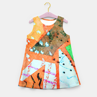 Thumbnail image of White patches Girl's summer dress, Live Heroes