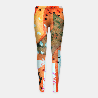 Thumbnail image of White patches Girl's leggings, Live Heroes