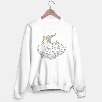 Thumbnail image of Weird Unicorn Cat contemplating the universe Sweater regular, Live Heroes