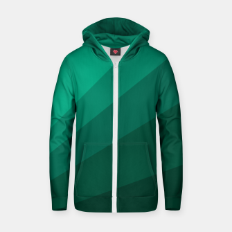 Thumbnail image of Sea green folding hand fan, fresh and simple summer tropical mood design Zip up hoodie, Live Heroes