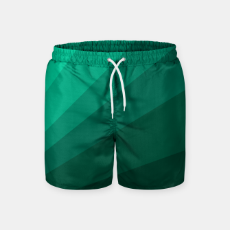 Thumbnail image of Sea green folding hand fan, fresh and simple summer tropical mood design Swim Shorts, Live Heroes