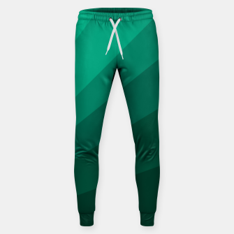 Thumbnail image of Sea green folding hand fan, fresh and simple summer tropical mood design Sweatpants, Live Heroes