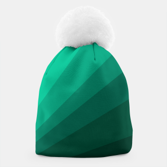Thumbnail image of Sea green folding hand fan, fresh and simple summer tropical mood design Beanie, Live Heroes