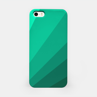 Thumbnail image of Sea green folding hand fan, fresh and simple summer tropical mood design iPhone Case, Live Heroes