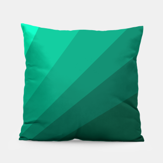 Thumbnail image of Sea green folding hand fan, fresh and simple summer tropical mood design Pillow, Live Heroes