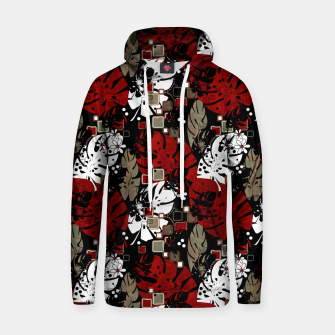 Tropical abstract pattern exotic leaves jungle plants botanical monstera Hoodie Bild der Miniatur