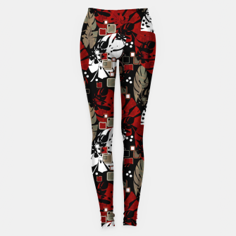 Miniaturka Tropical abstract pattern exotic leaves jungle plants botanical monstera Leggings, Live Heroes