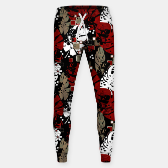 Miniaturka Tropical abstract pattern exotic leaves jungle plants botanical monstera Sweatpants, Live Heroes