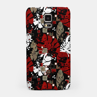 Tropical abstract pattern exotic leaves jungle plants botanical monstera Samsung Case Bild der Miniatur