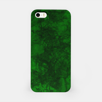 Miniatur Dark bottle green marble textured suede granite smoke wall stone grunge iPhone Case, Live Heroes