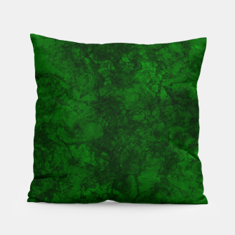 Miniatur Dark bottle green marble textured suede granite smoke wall stone grunge Pillow, Live Heroes