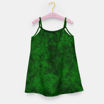 Thumbnail image of Dark bottle green marble textured suede granite smoke wall stone grunge Girl's dress, Live Heroes