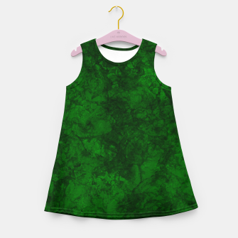 Thumbnail image of Dark bottle green marble textured suede granite smoke wall stone grunge Girl's summer dress, Live Heroes