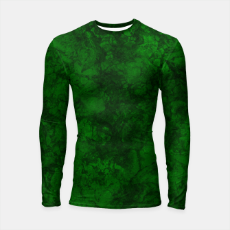 Thumbnail image of Dark bottle green marble textured suede granite smoke wall stone grunge Longsleeve rashguard , Live Heroes