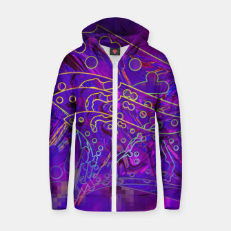 Thumbnail image of Tress gatos Zip up hoodie, Live Heroes