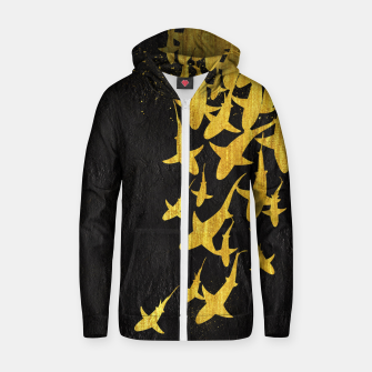 Thumbnail image of Golden Sharks Sudadera con capucha y cremallera , Live Heroes