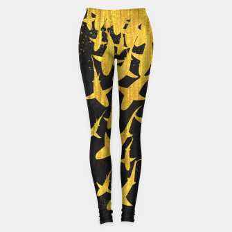 Golden Sharks Leggings Bild der Miniatur